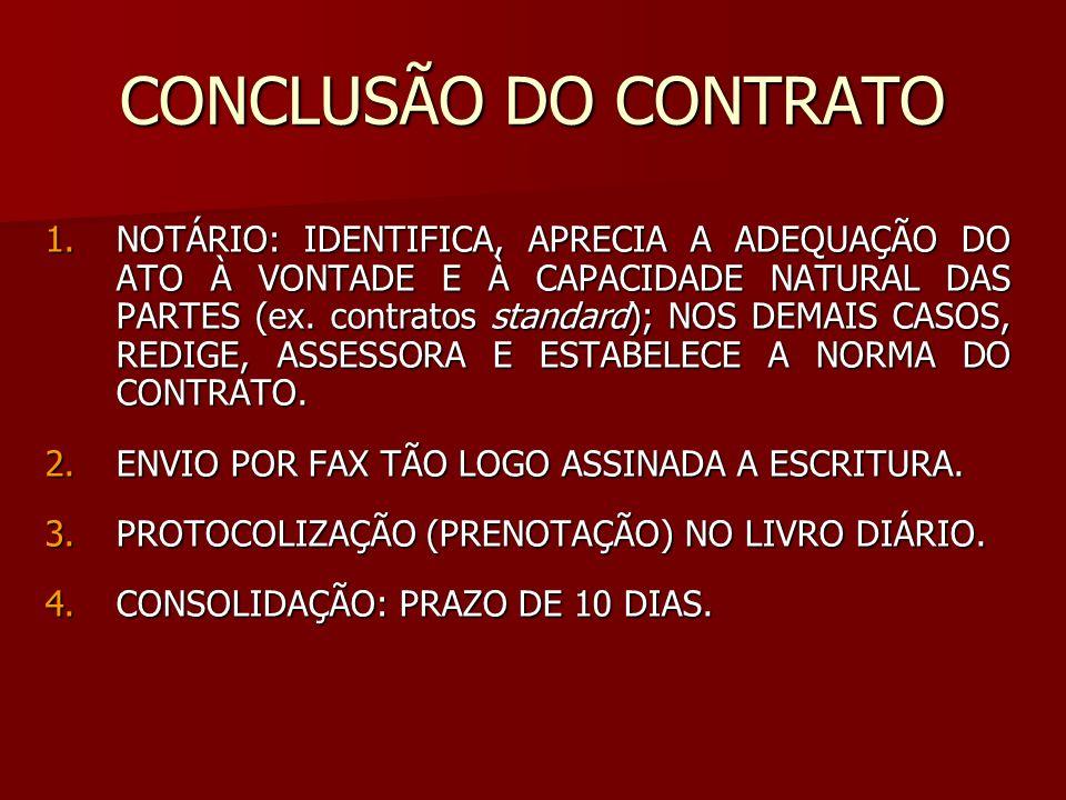 CONCLUSÃO DO CONTRATO