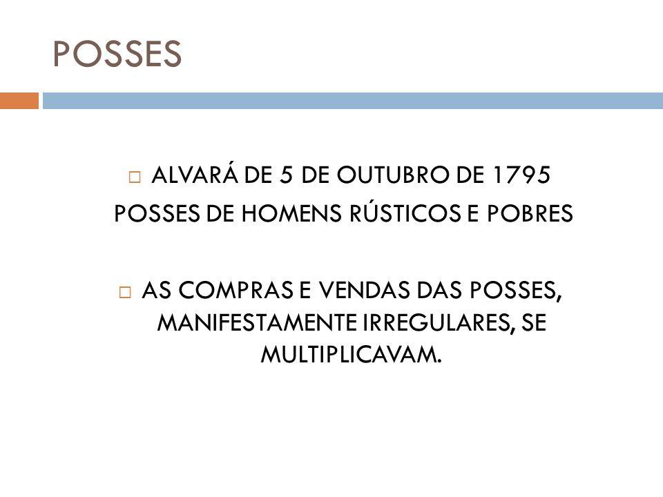 POSSES DE HOMENS RÚSTICOS E POBRES