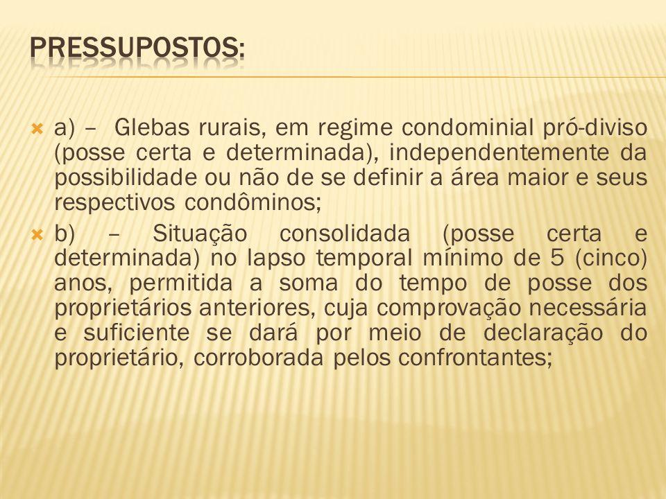 Pressupostos: