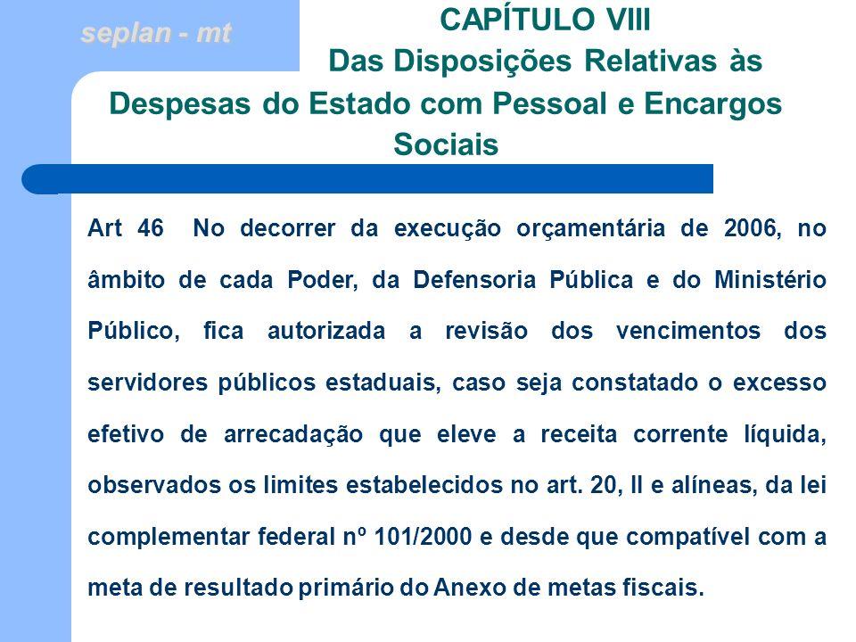 CAPÍTULO VIII Das Disposições Relativas às