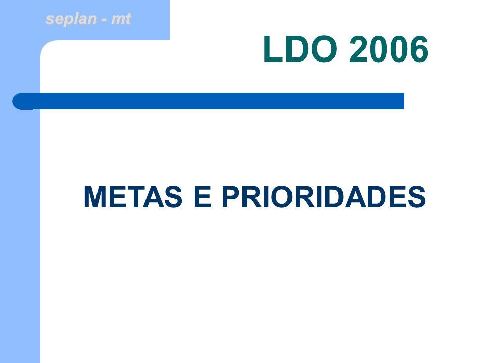 LDO 2006 METAS E PRIORIDADES