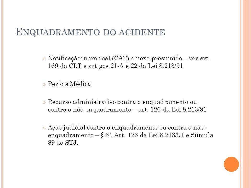Enquadramento do acidente