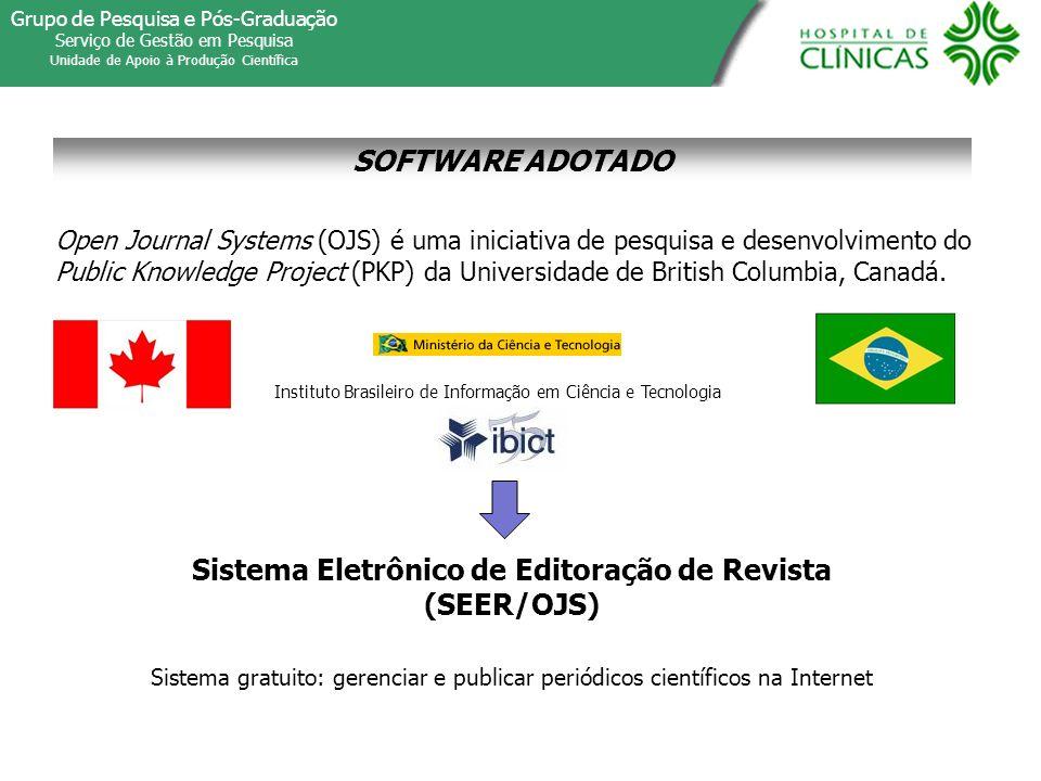 Sistema Eletrônico de Editoração de Revista (SEER/OJS)