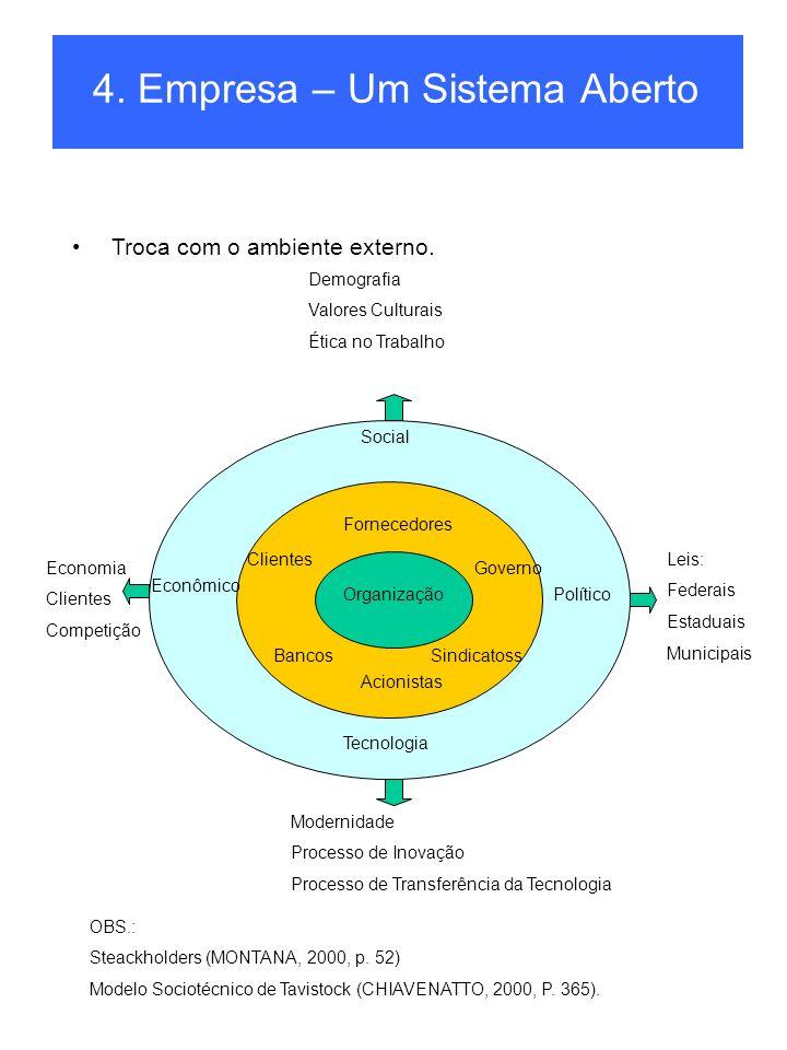 4. Empresa – Um Sistema Aberto