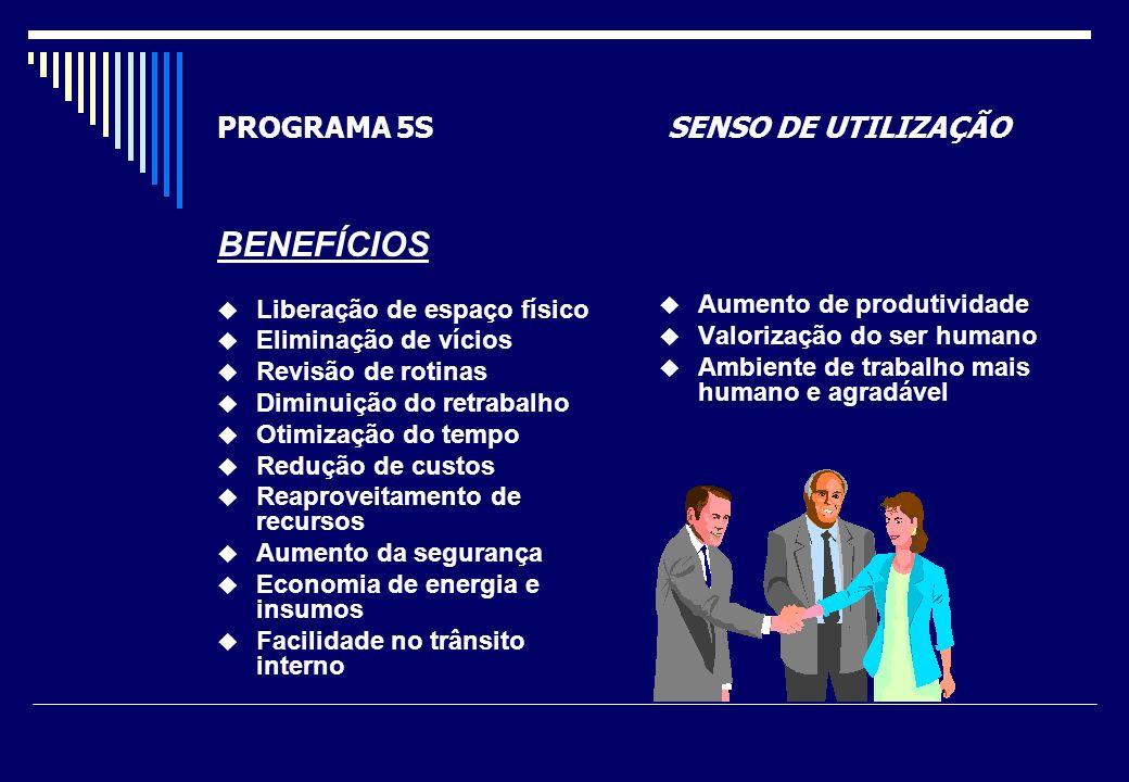 PROGRAMA 5S SENSO DE UTILIZAÇÃO