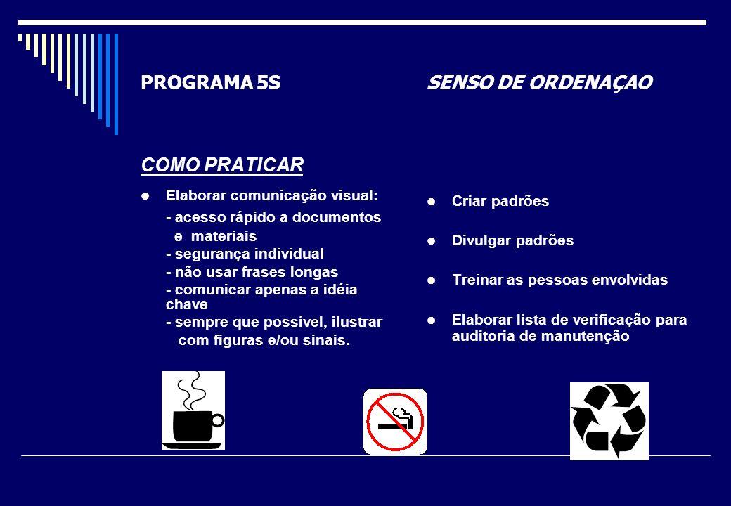 PROGRAMA 5S SENSO DE ORDENAÇAO