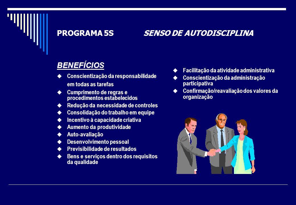 PROGRAMA 5S SENSO DE AUTODISCIPLINA