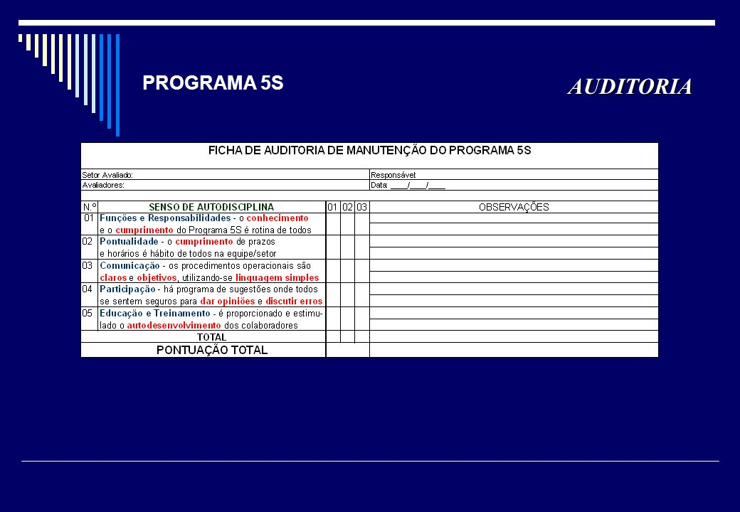 PROGRAMA 5S AUDITORIA