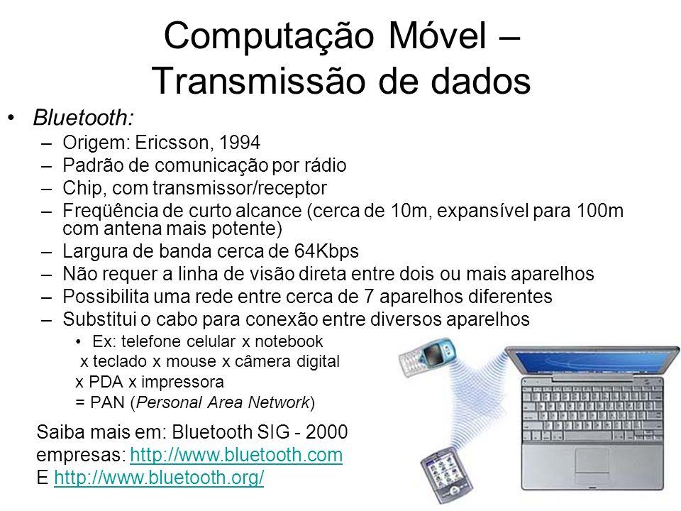 Computação Móvel – Transmissão de dados