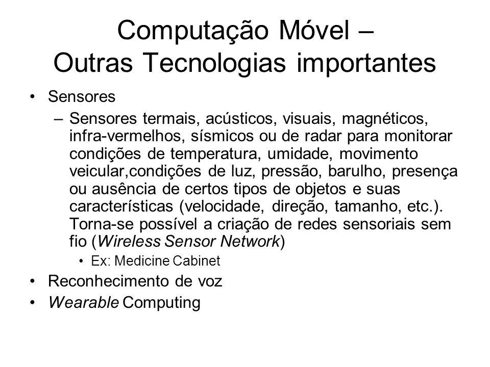 Computação Móvel – Outras Tecnologias importantes