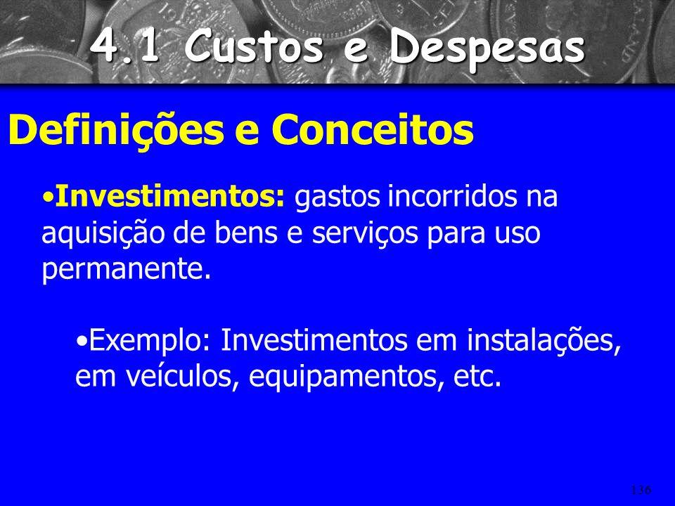 4.1 Custos e Despesas Definições e Conceitos
