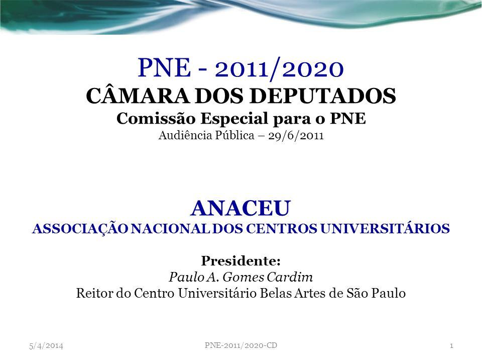 PNE - 2011/2020 CÂMARA DOS DEPUTADOS ANACEU