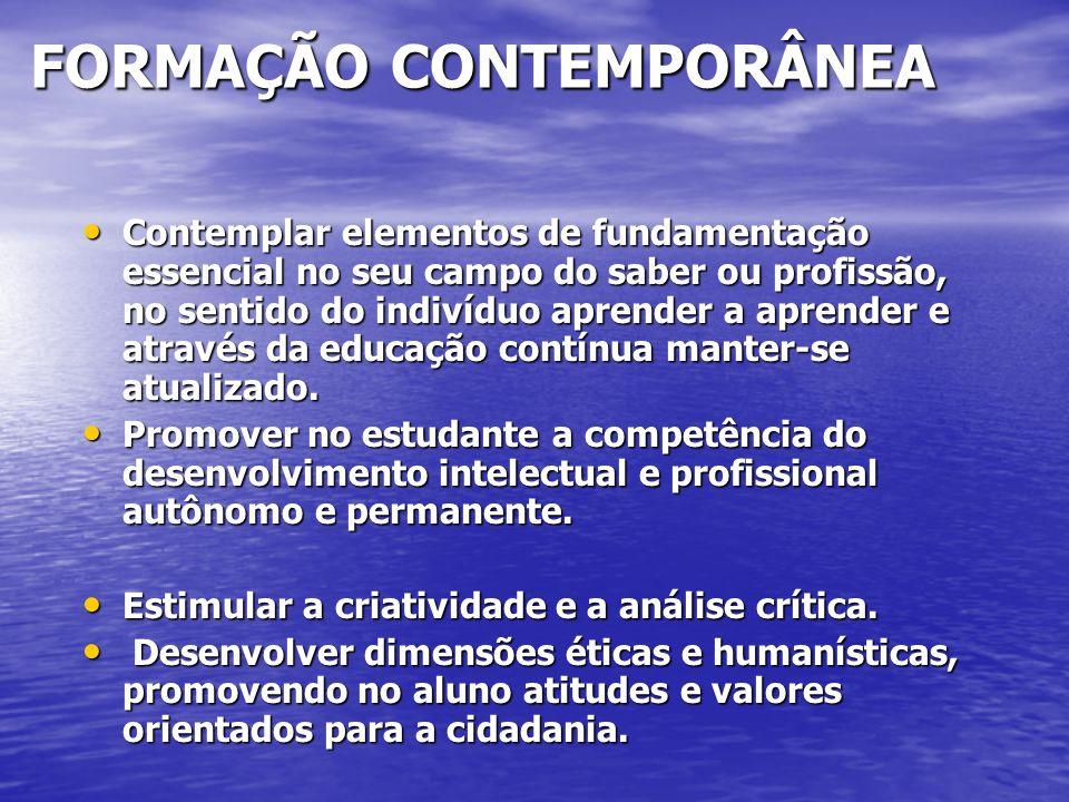FORMAÇÃO CONTEMPORÂNEA