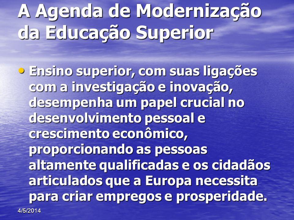 A Agenda de Modernização da Educação Superior