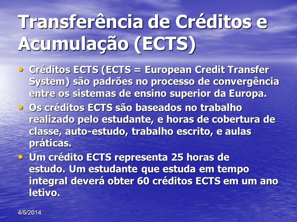 Transferência de Créditos e Acumulação (ECTS)