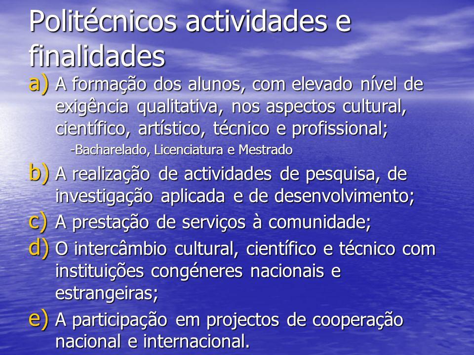 Politécnicos actividades e finalidades