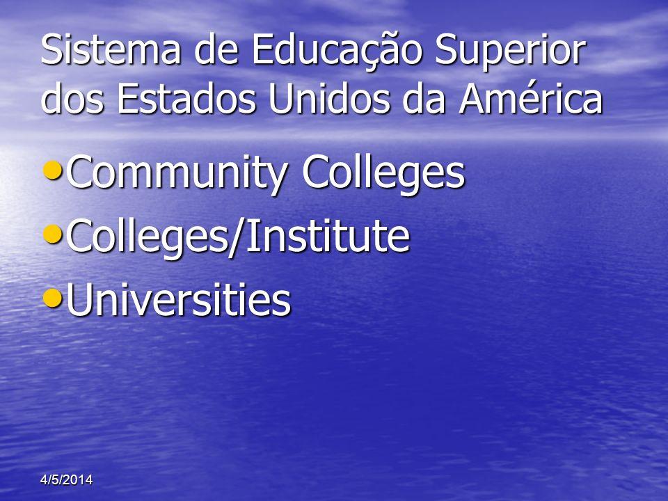 Sistema de Educação Superior dos Estados Unidos da América