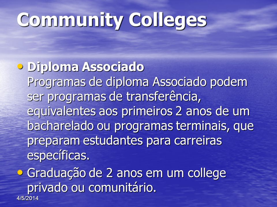 Community Colleges