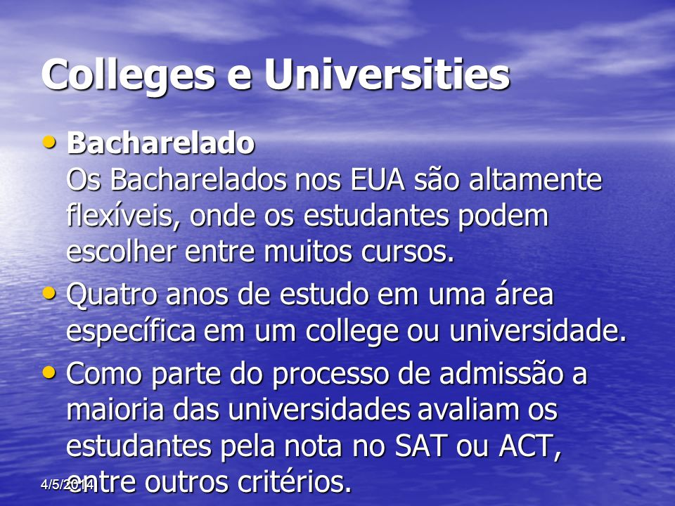 Colleges e Universities