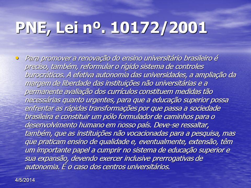 PNE, Lei nº. 10172/2001