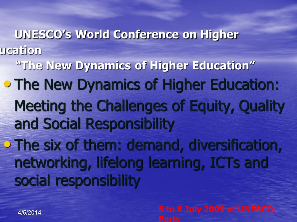 The New Dynamics of Higher Education:
