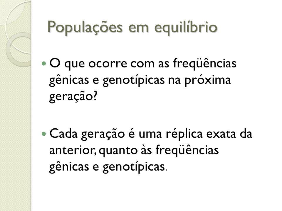 Populações em equilíbrio