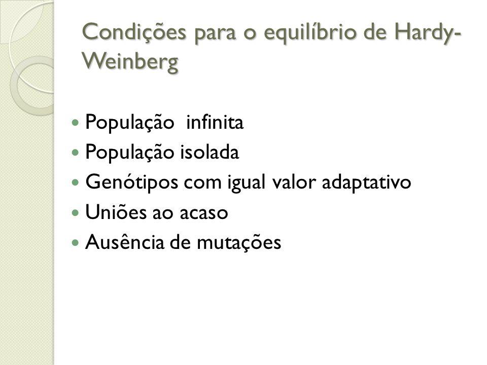 Condições para o equilíbrio de Hardy-Weinberg