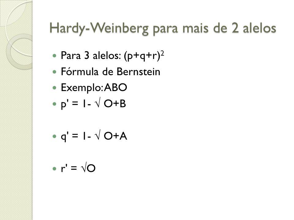 Hardy-Weinberg para mais de 2 alelos
