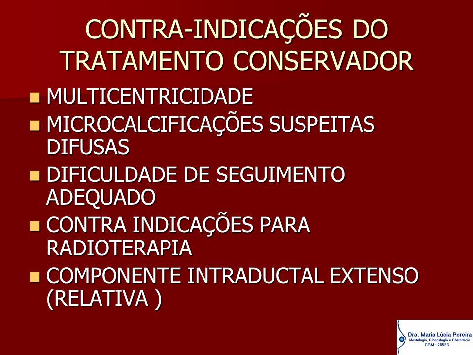 CONTRA-INDICAÇÕES DO TRATAMENTO CONSERVADOR