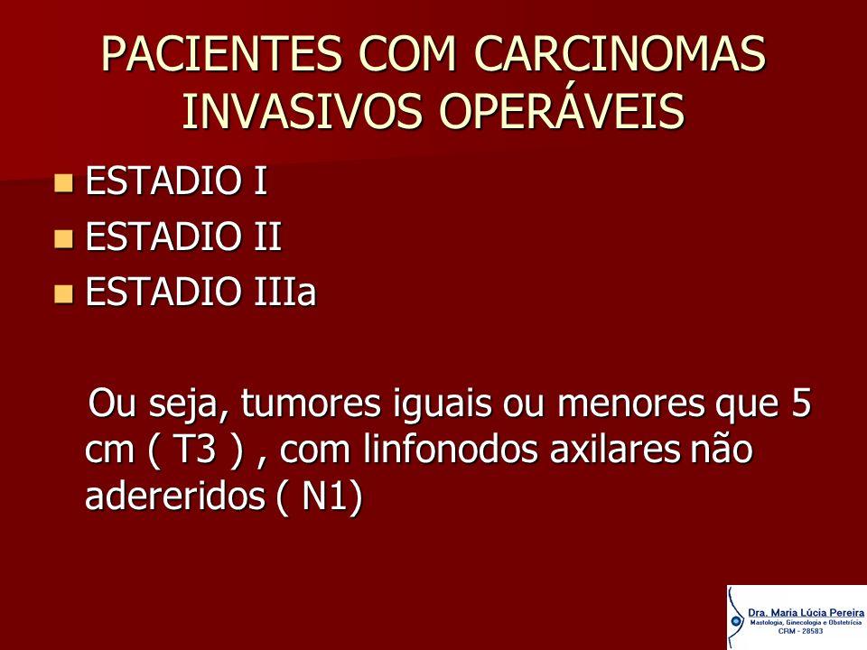 PACIENTES COM CARCINOMAS INVASIVOS OPERÁVEIS