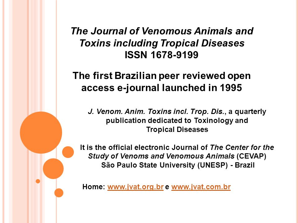 The Journal of Venomous Animals and Toxins including Tropical Diseases