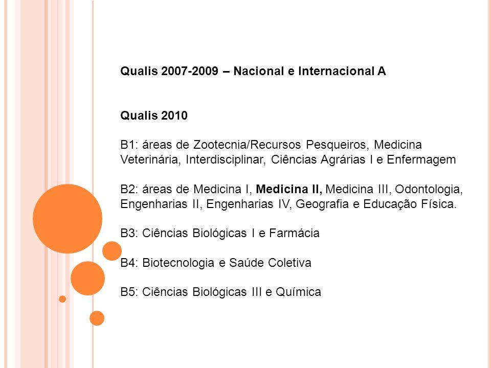 Qualis 2007-2009 – Nacional e Internacional A
