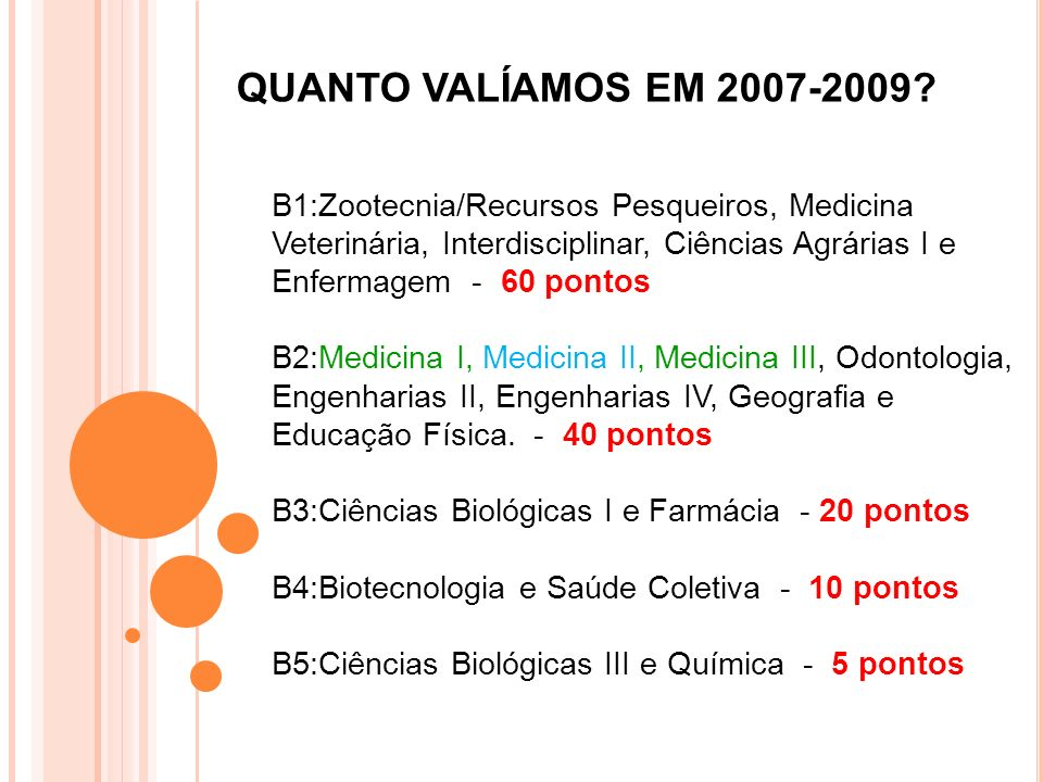 QUANTO VALÍAMOS EM 2007-2009