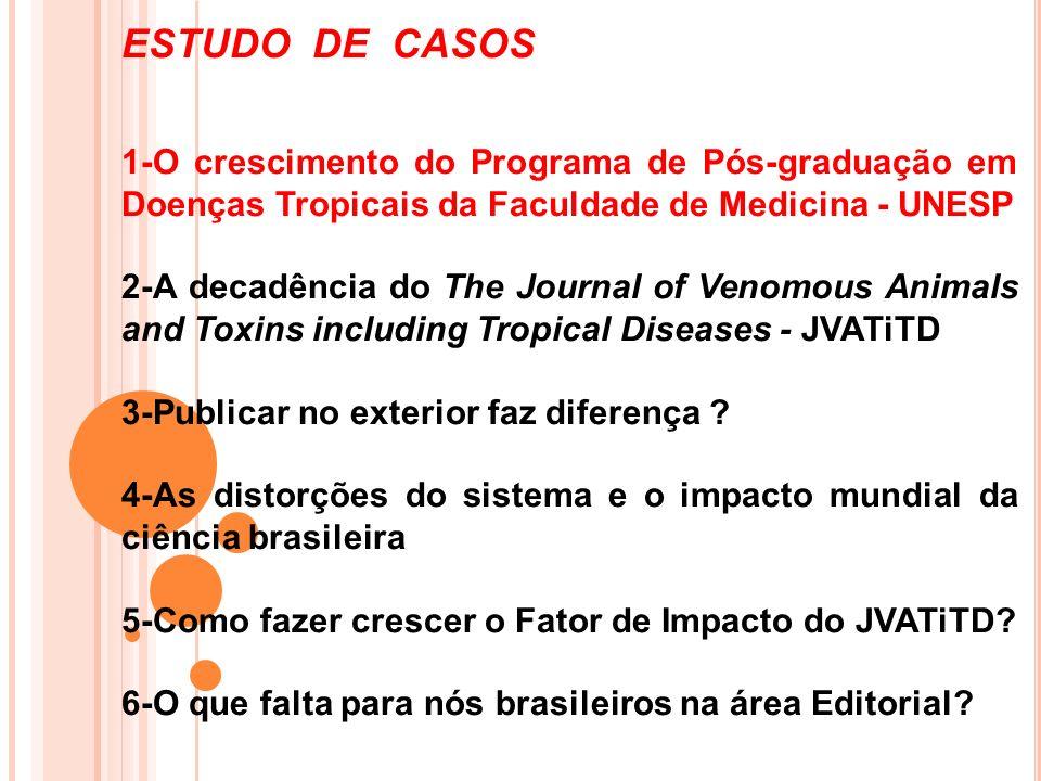 ESTUDO DE CASOS 1-O crescimento do Programa de Pós-graduação em Doenças Tropicais da Faculdade de Medicina - UNESP.