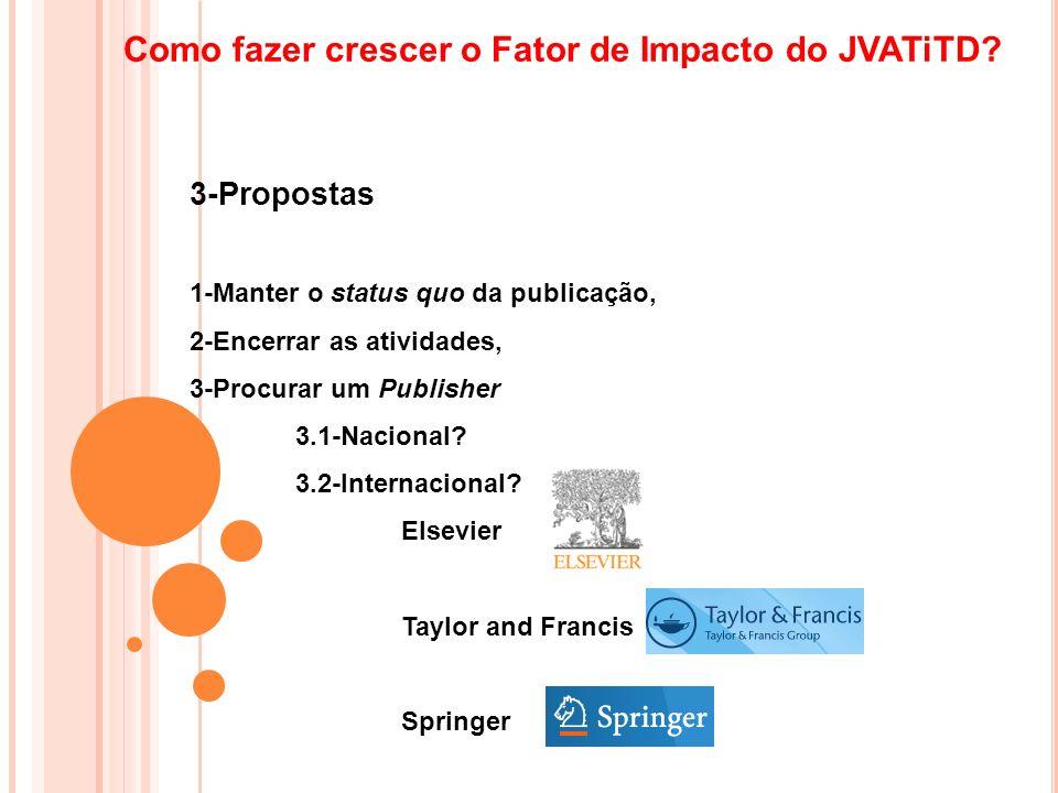 Como fazer crescer o Fator de Impacto do JVATiTD