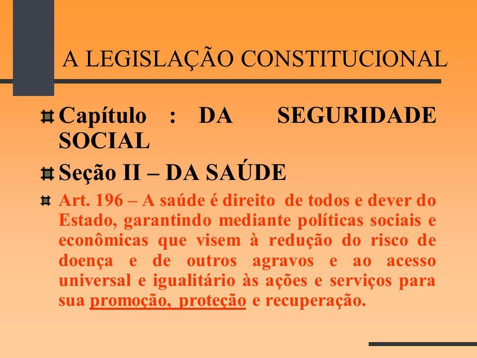A LEGISLAÇÃO CONSTITUCIONAL