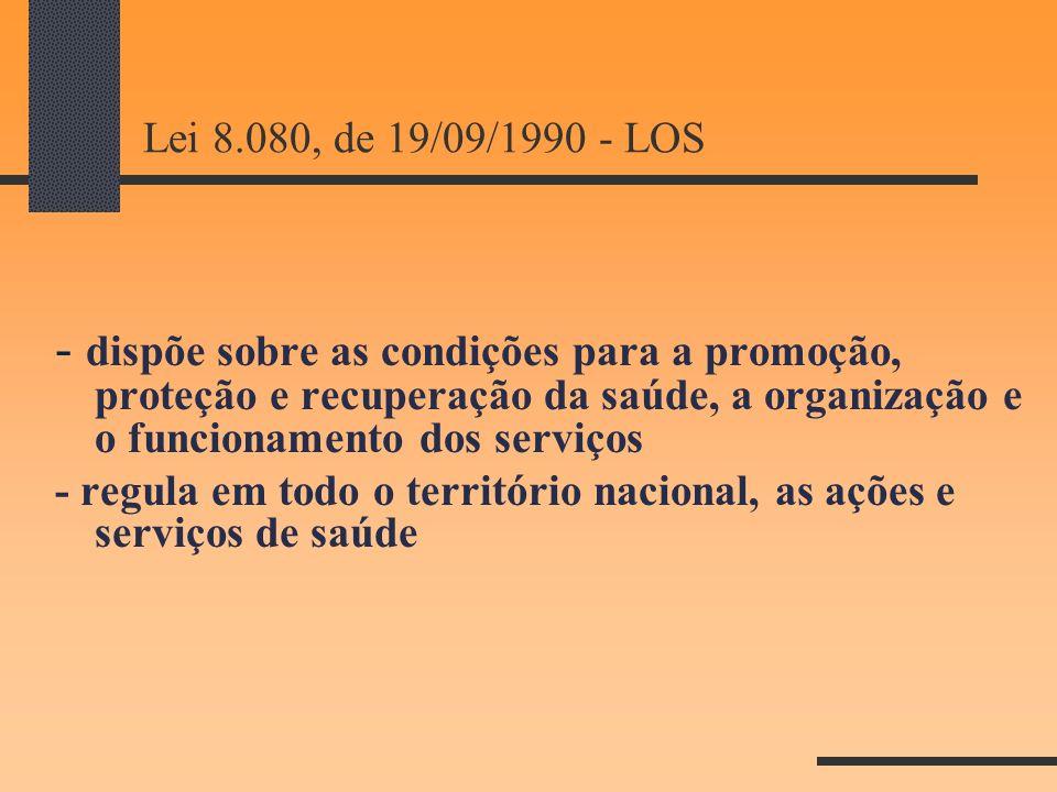 Lei 8.080, de 19/09/1990 - LOS
