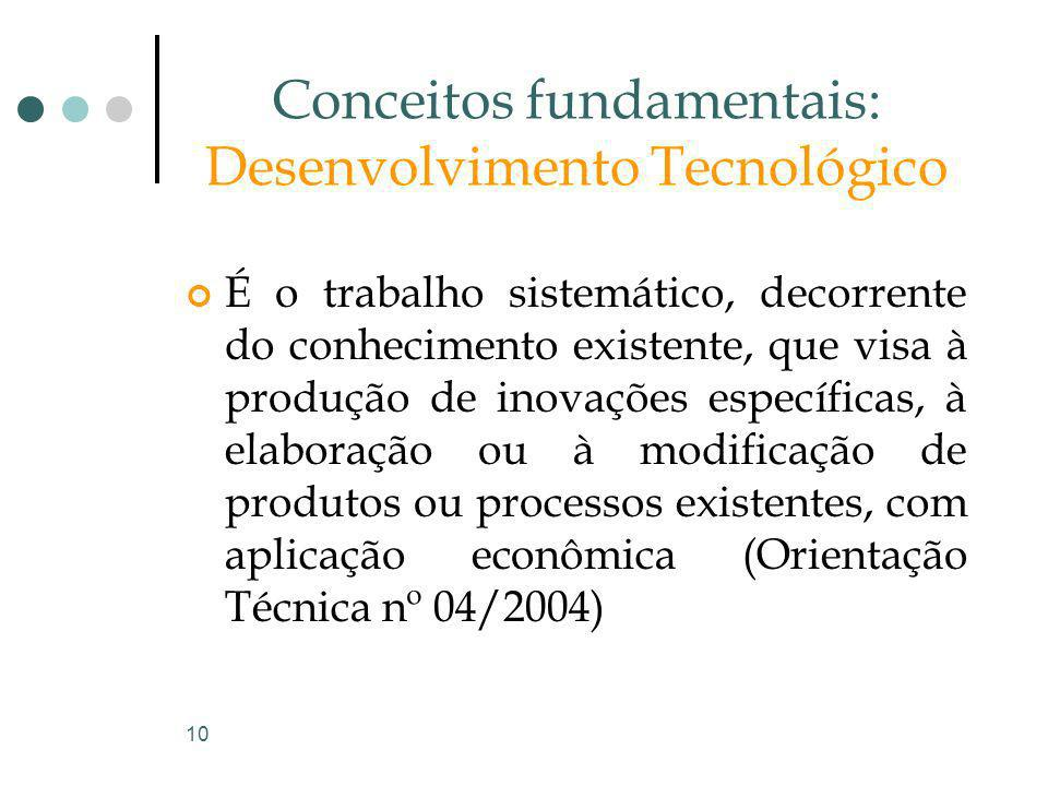 Conceitos fundamentais: Desenvolvimento Tecnológico