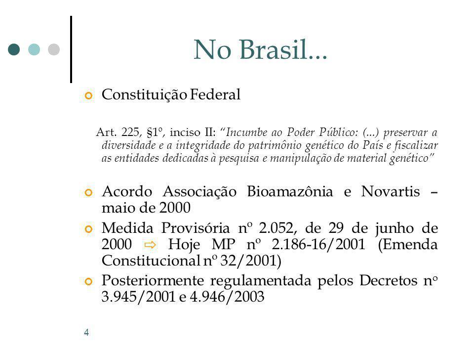 No Brasil... Constituição Federal