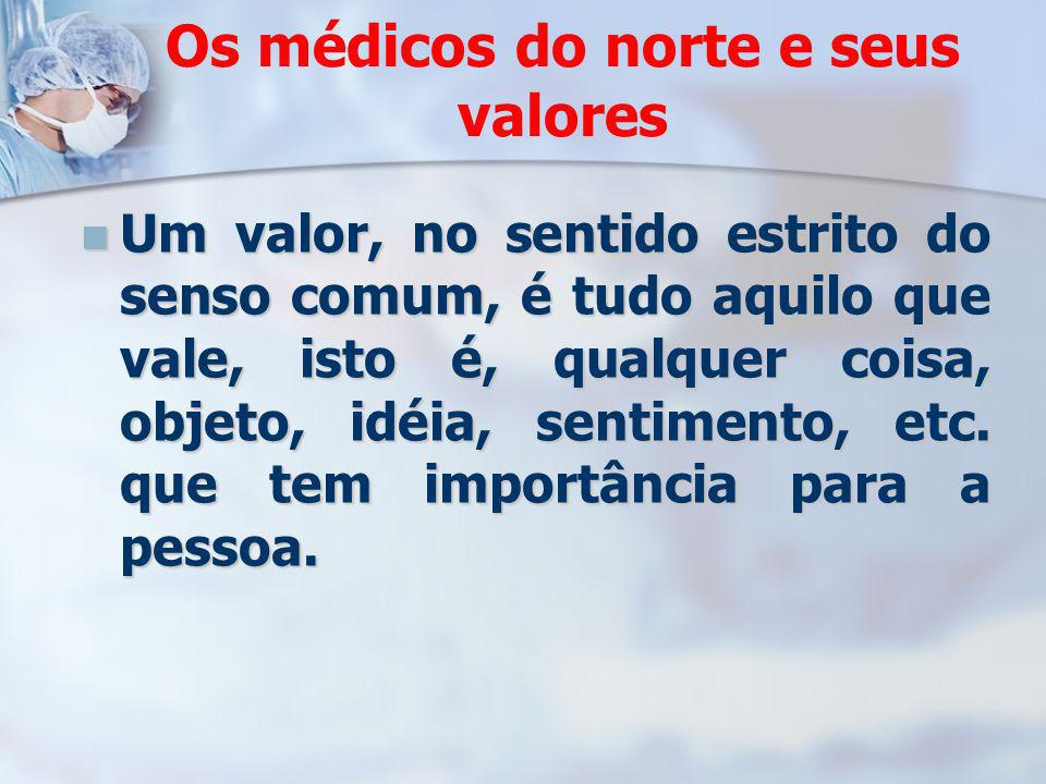 Os médicos do norte e seus valores