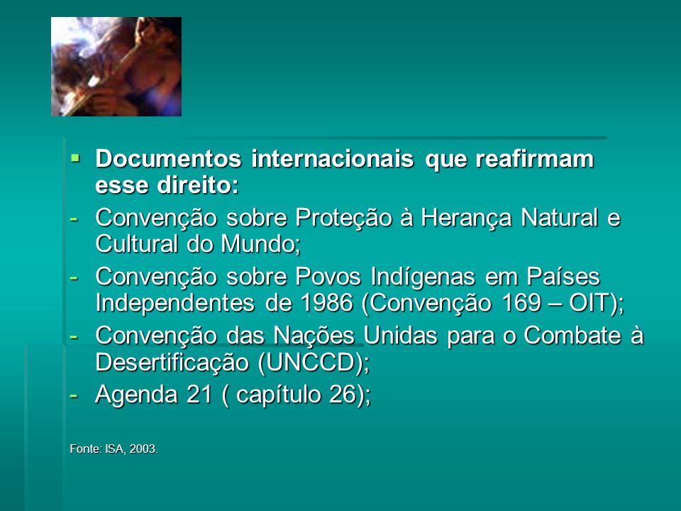 Documentos internacionais que reafirmam esse direito: