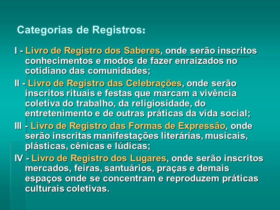 Categorias de Registros: