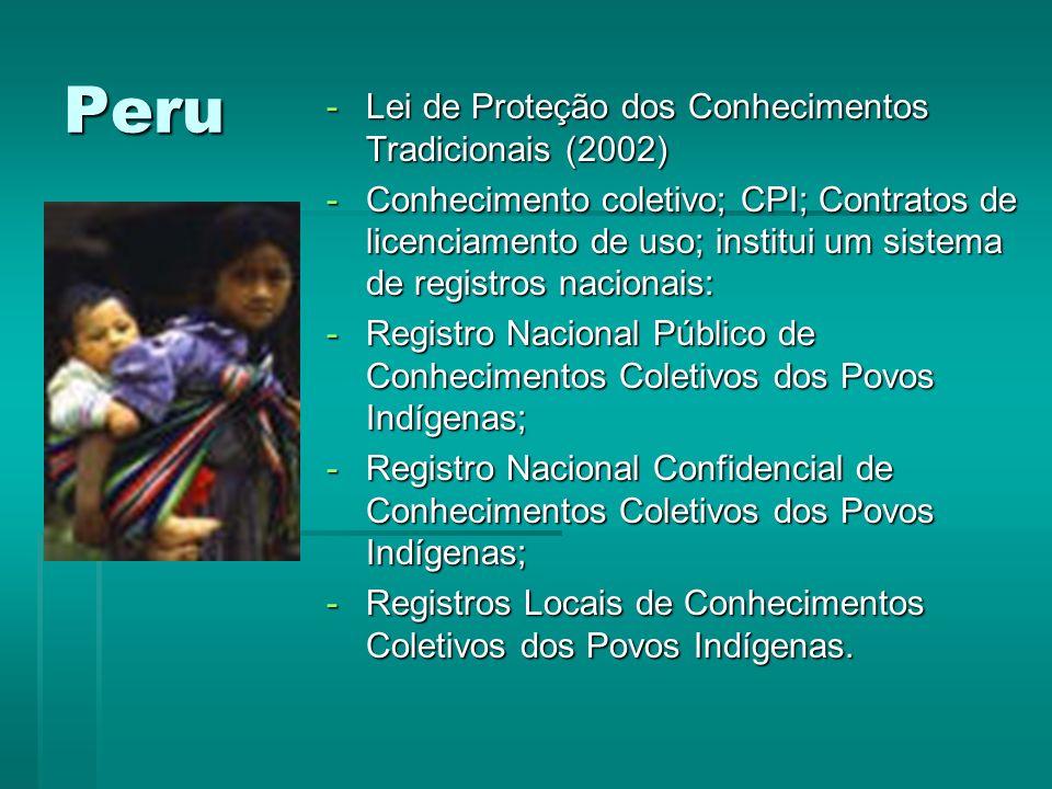 Peru Lei de Proteção dos Conhecimentos Tradicionais (2002)