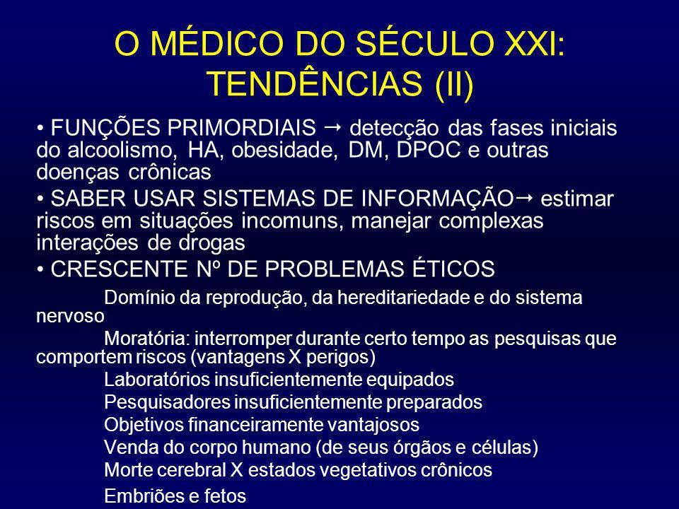 O MÉDICO DO SÉCULO XXI: TENDÊNCIAS (II)