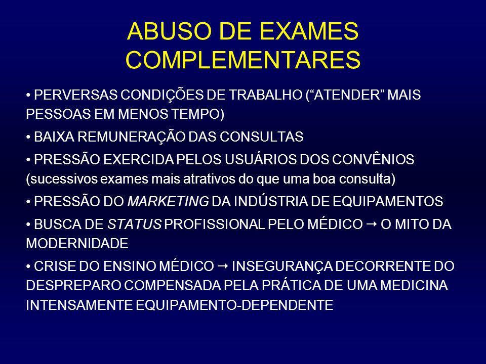 ABUSO DE EXAMES COMPLEMENTARES