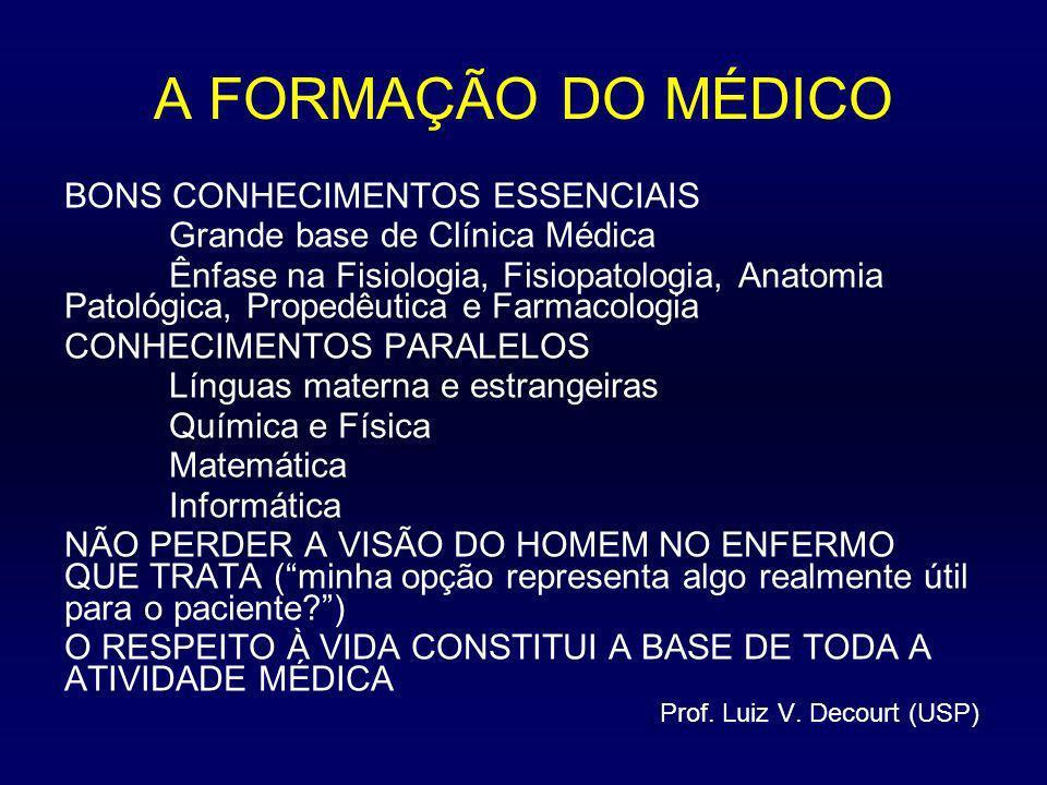 A FORMAÇÃO DO MÉDICO BONS CONHECIMENTOS ESSENCIAIS