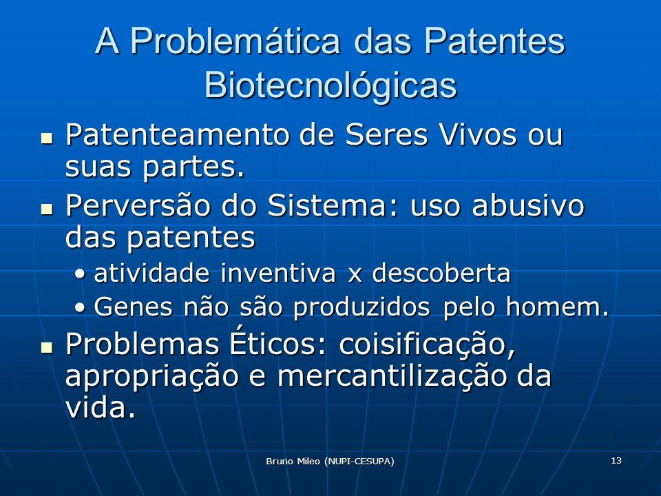 A Problemática das Patentes Biotecnológicas