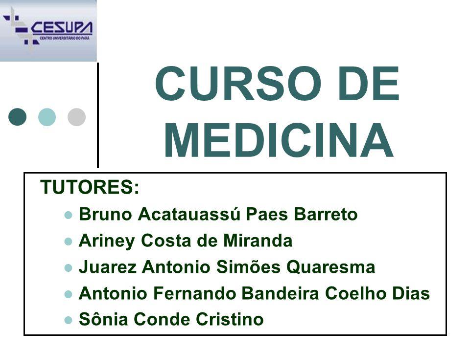 CURSO DE MEDICINA TUTORES: Bruno Acatauassú Paes Barreto
