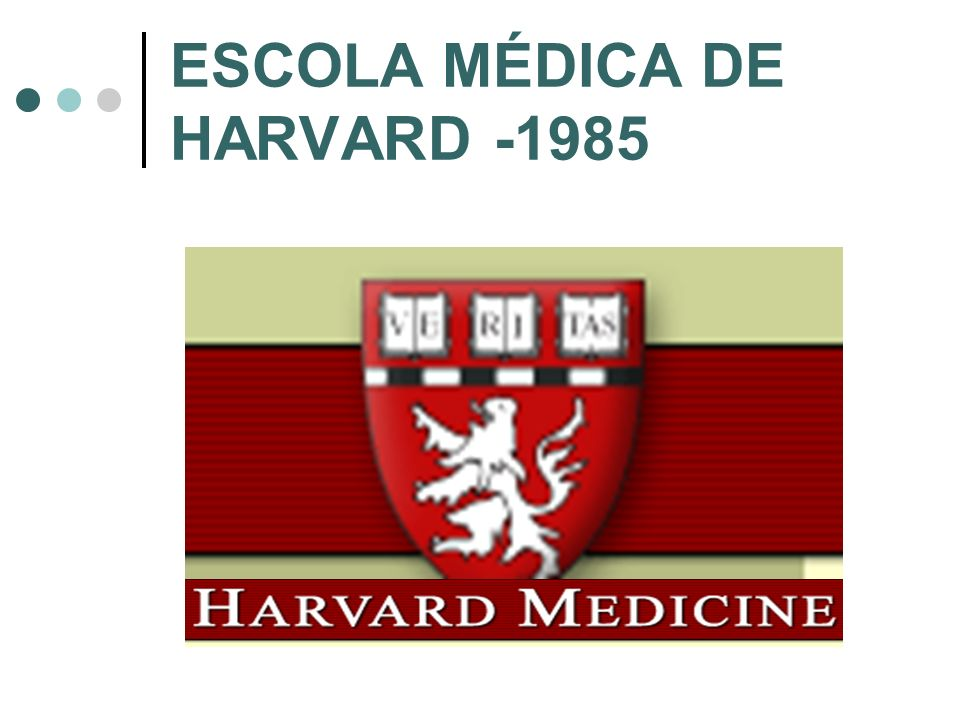 ESCOLA MÉDICA DE HARVARD -1985