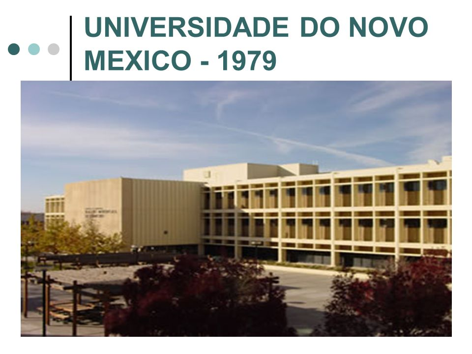 UNIVERSIDADE DO NOVO MEXICO - 1979